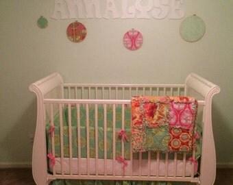 Baby Crib Bedding, Toddler Bedding, Girl, Soul Blossom, Bedding, Crib Skirt, Crib Sheet, Bumper Pads, Sheet, Case