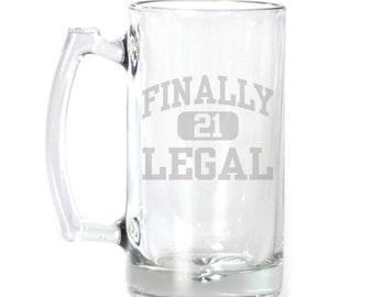 Large Beer Mug - 25 oz. - 2124 Finally Legal 21