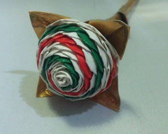 Store Closing- Everything half off- Christmas Duct Tape Rose