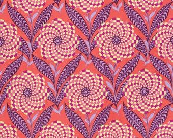 Zebra Bloom in Persimmon  PWAB161 - ETERNAL SUNSHINE  by Amy Butler - Free Spirit Fabric - By the Yard
