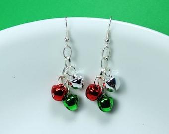 "SALE - Earrings - Handmade Christmas Theme ""Jingle Bells"""