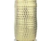 "Ivory w/ Gold Metallic Chevron - 100 Yard Roll - Fold Over Elastic - 5/8"" Wide Bulk Wholesale FOE"