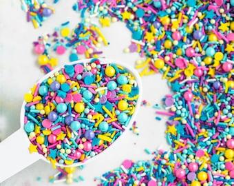 SLUMBER PARTY Sprinkle Medley, Pink and Blue, Girly Sprinkles, Sweetapolita, Canadian Sprinkles