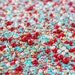 FESTIVE SPARKLE Bulk Twinkle Sprinkle Medley, Holiday Sprinkles, Red and Gold, Turquoise and Red, Canadian Sprinkles