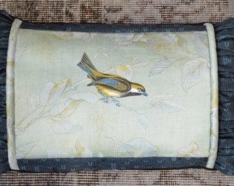 Pillow Insert Included, Garden Bird Pillow Cover, Goose Down Feather Pillow