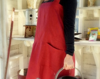 All Natural Linen Pinafore Apron