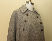 1960s  Wool taupe Cape  One Size