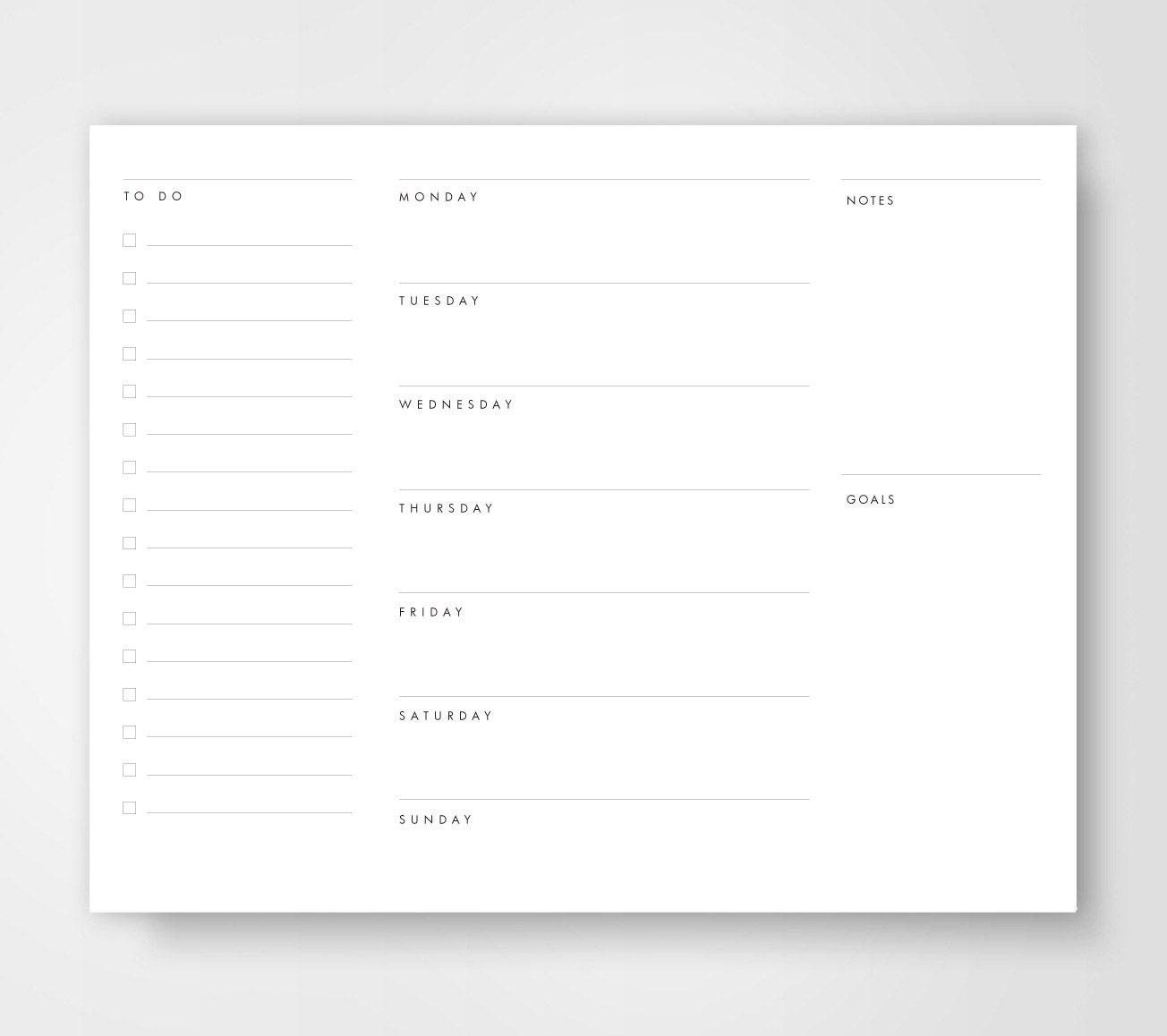 editable to do list template