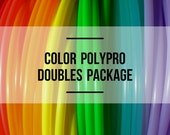Doubles Set: Two Color Polypro Hula Hoops with Custom Tubing Size, Diameter and Grip Options!