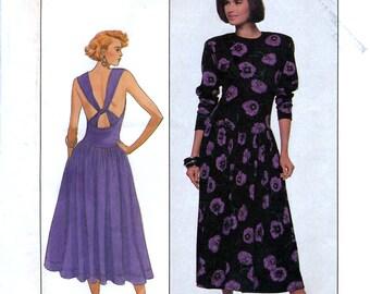 Simplicity 9193 Vintage 80s Misses' Dress Sewing Pattern - Uncut - Size 10, 12, 14