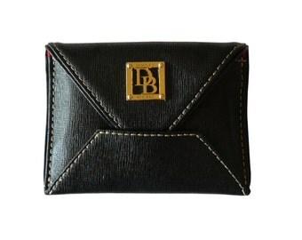 Dooney & Bourke Black Leather ID Credit Card Holder Wallet
