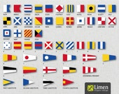 Digital Nautical Flags, Nautical Flag Banner, Instant Download, Signal Flags, Nautical Decor, Nautical Birthday, Nautical Printable