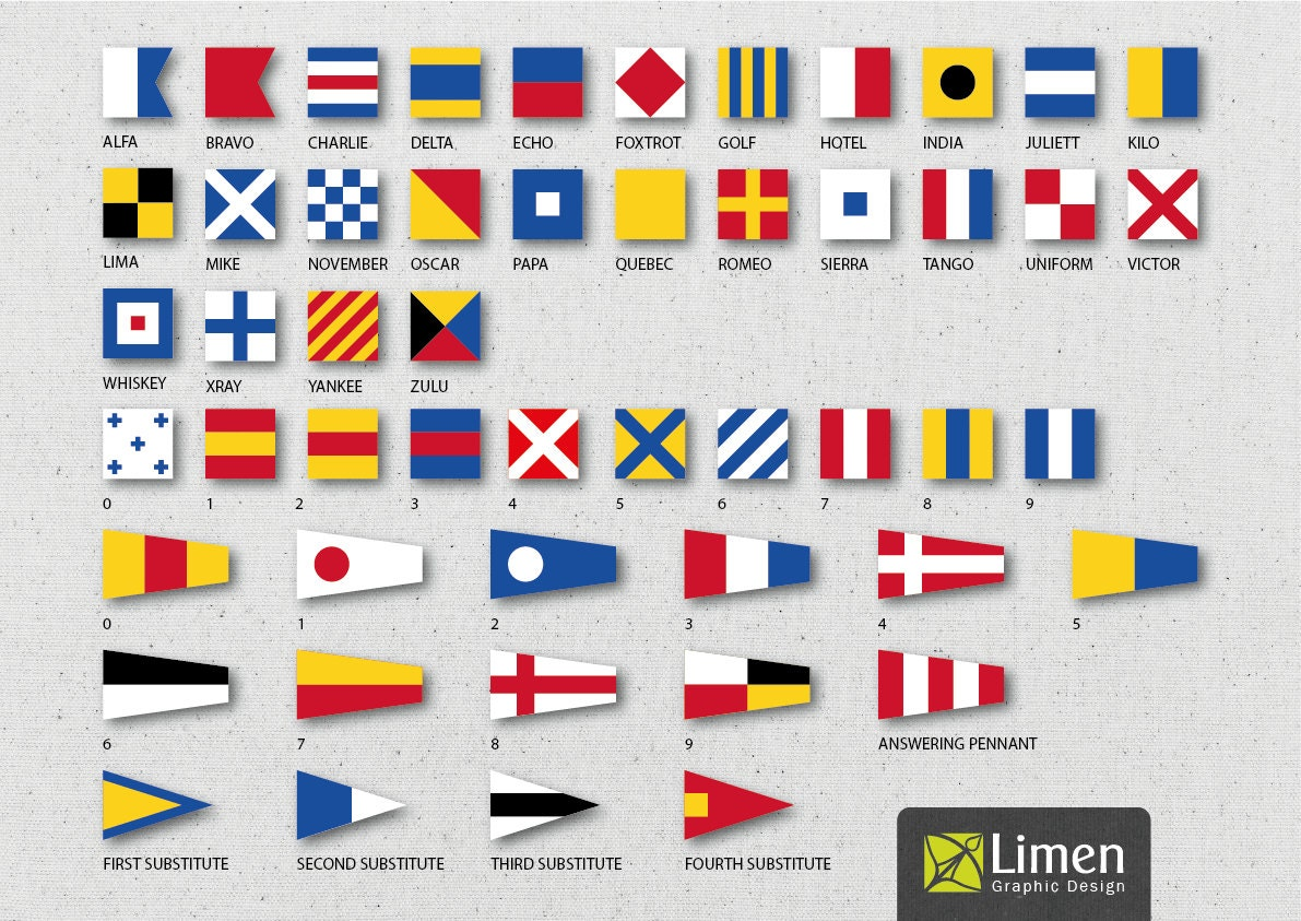 digital nautical flags nautical flag banner instant