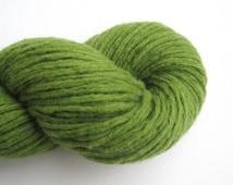 Super Bulky Weight Recycled Merino Wool Yarn, Grass Green, 110 yards, Lot 070416