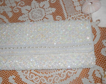 Evening Purse with Sequins, Pearl Beading by La Regale