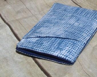 Modern Mens Wallet / Pocket wallet - Sleek Wallet - thin Wallet - Blue wallet - Business Card Holder -Fabric wallet