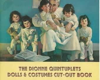 The Dionne Quintuplets Dolls & Costumes Cut-Out Vintage Book, 1984
