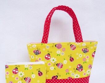 Lady Bugs // Shopkins  // Kids Purse and Coin Bag Set