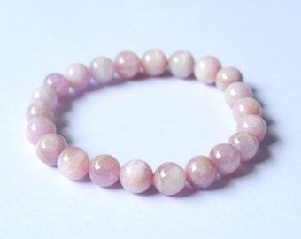 """A Beautiful """" Kunzite """" Bracelet in size 8 mm."""