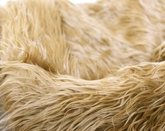 """Mongolian Faux Fur Layer Photography Prop - 21"""" x 22"""" Camel Colored - Photo Prop Layer"""