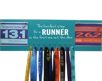 Gifts for runners - running medal holder and display rack for race bibs