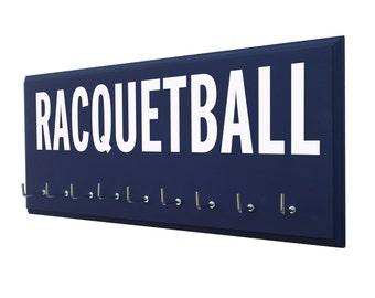 racquetball medals hanger, Racquetball gift, tennis gift, gift for racquetball and tennis, racquetball hooks, tennis hooks, tennis gifts