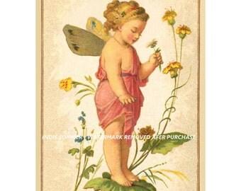 Vintage Antique Victorian Fairy Postcard image #5~ Instant download card