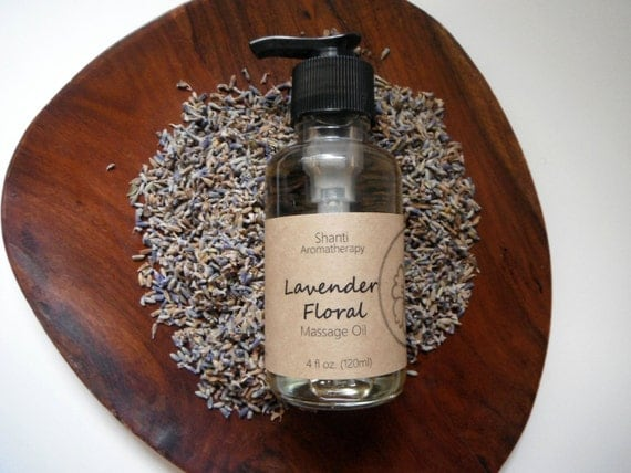 Lavender Floral Massage Oil - Relaxing Massage Oil Blend and Body Lotion - Aromatherapy Blend