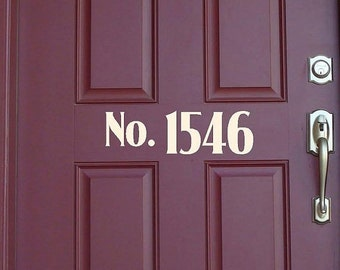 15% OFF Custom  door house numbers  -Vinyl Lettering wall words graphics Home decor itswritteninvinyl