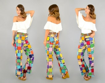 70's Multicolored PATCHWORK Pants