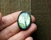 Labradorite Cabochon, 44.05ct Natural Gemstone Oval Cabochon, 31x22mm - O6