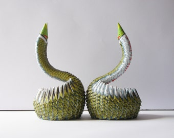 Gift for Him / Husband Gift / First Anniversary / Pencil Holder / Housewarming / First Anniversary Together / Housewarming Gift / Swans /