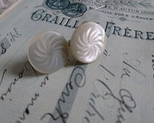 Sweet pair antique French mother of pearl cuff links  c1900 BELLE BROCANTE  Manoir attic clearance