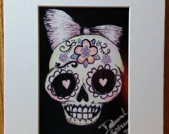 Day of the Dead sugar skulls print