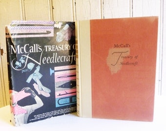 Vintage McCall's Treasury of Needlecraft Book - Knitting, Crochet, Embroidery and Lace-making - Mid-Century 1955