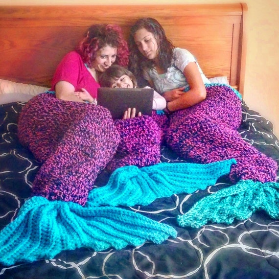 The Little Mermaid Tail Cocoon Blanket PDF by ...