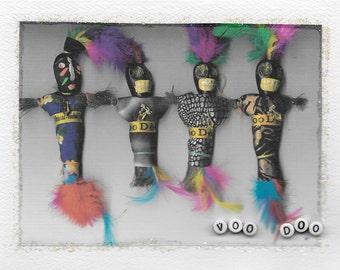 voodoo dolls greeting card