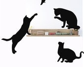 Cat Wall Decals,Cat Silhouette, Feline Wall Decals, Cat Wall Decor,Veterinary Decor,Cat Lover gift, Kids Wall Decals, Animal Shelter decor