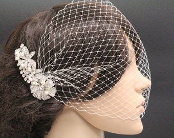 Wedding birdcage veil bridal hair accessory wedding fascinator bridal birdcage veil wedding headpiece bridal fascinator wedding veil bridal