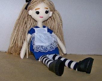 """Alice in Wonderland 8"""" (20cm) felt doll"""
