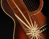 Leather Guitar Strap, Custom Leather Guitar Strap:  Starfall Guitar Strap