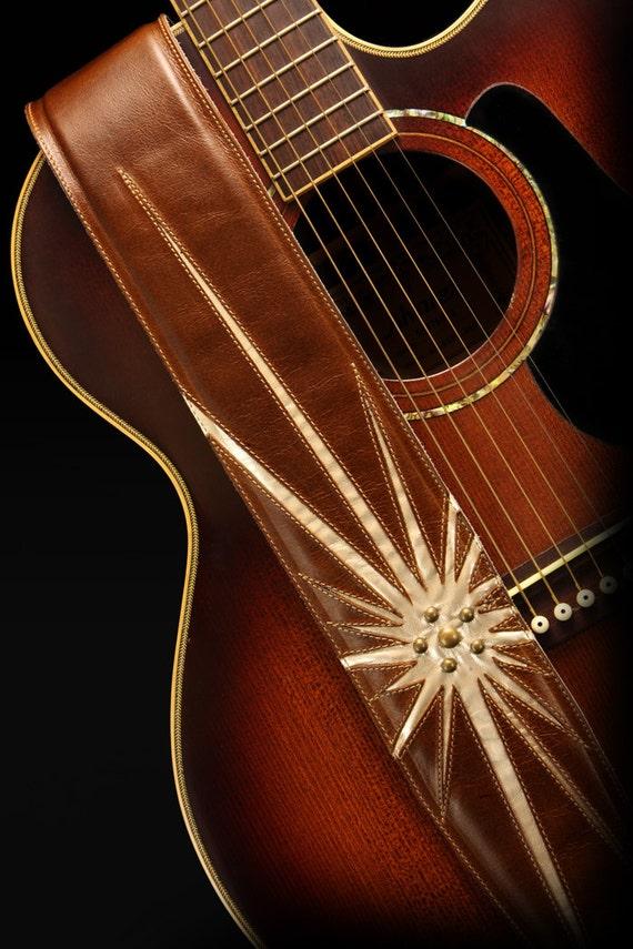 leather guitar strap custom leather guitar strap starfall. Black Bedroom Furniture Sets. Home Design Ideas