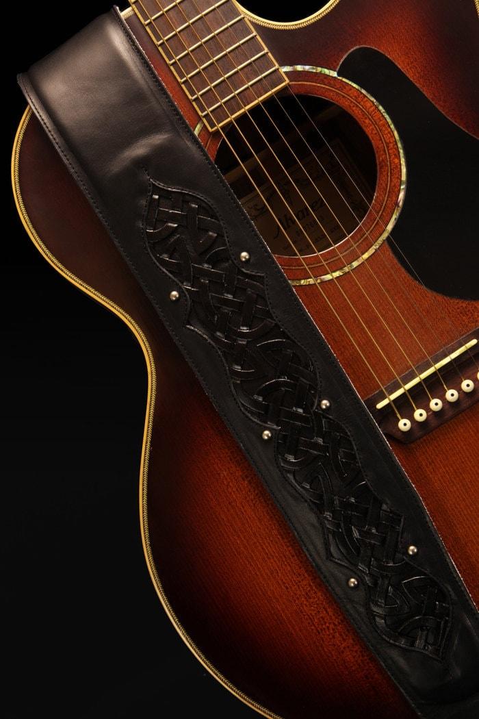 custom guitar strap celtic black beauty guitar strap. Black Bedroom Furniture Sets. Home Design Ideas