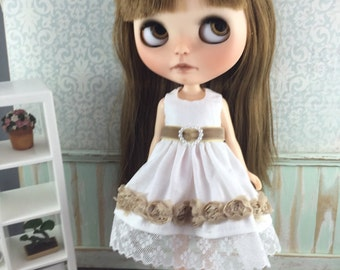 Blythe Roses Dress - Taupe