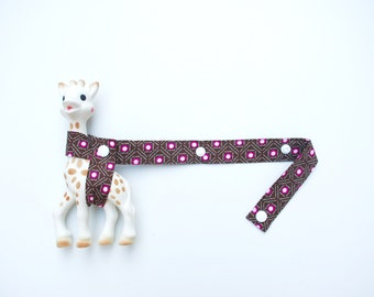 Sophie Toy Strap - Pink Flowers