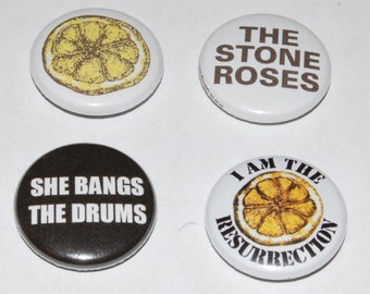 The Stone Roses Button Badge 25mm / 1 inch Manchester