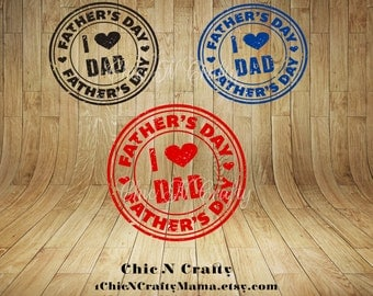 Fathers Day Grunge Stamp- Digital Graphics - Clip art - Commercial Use - Instant Download
