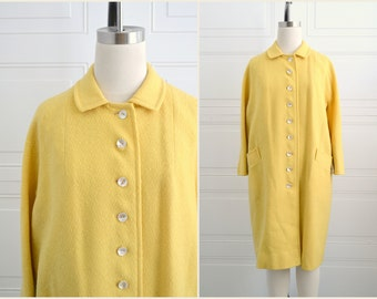 1960s Capri Yellow Wool Coat