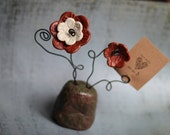 Ceramic Flowers ~ Card or Picture Holder