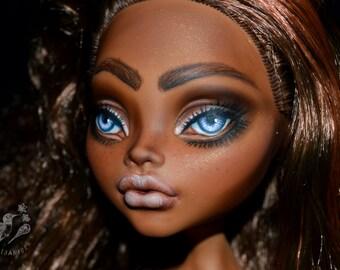 "SALE large monster high doll custom artist repaint OOAK MH big 17"" Clawdeen - Alicia"